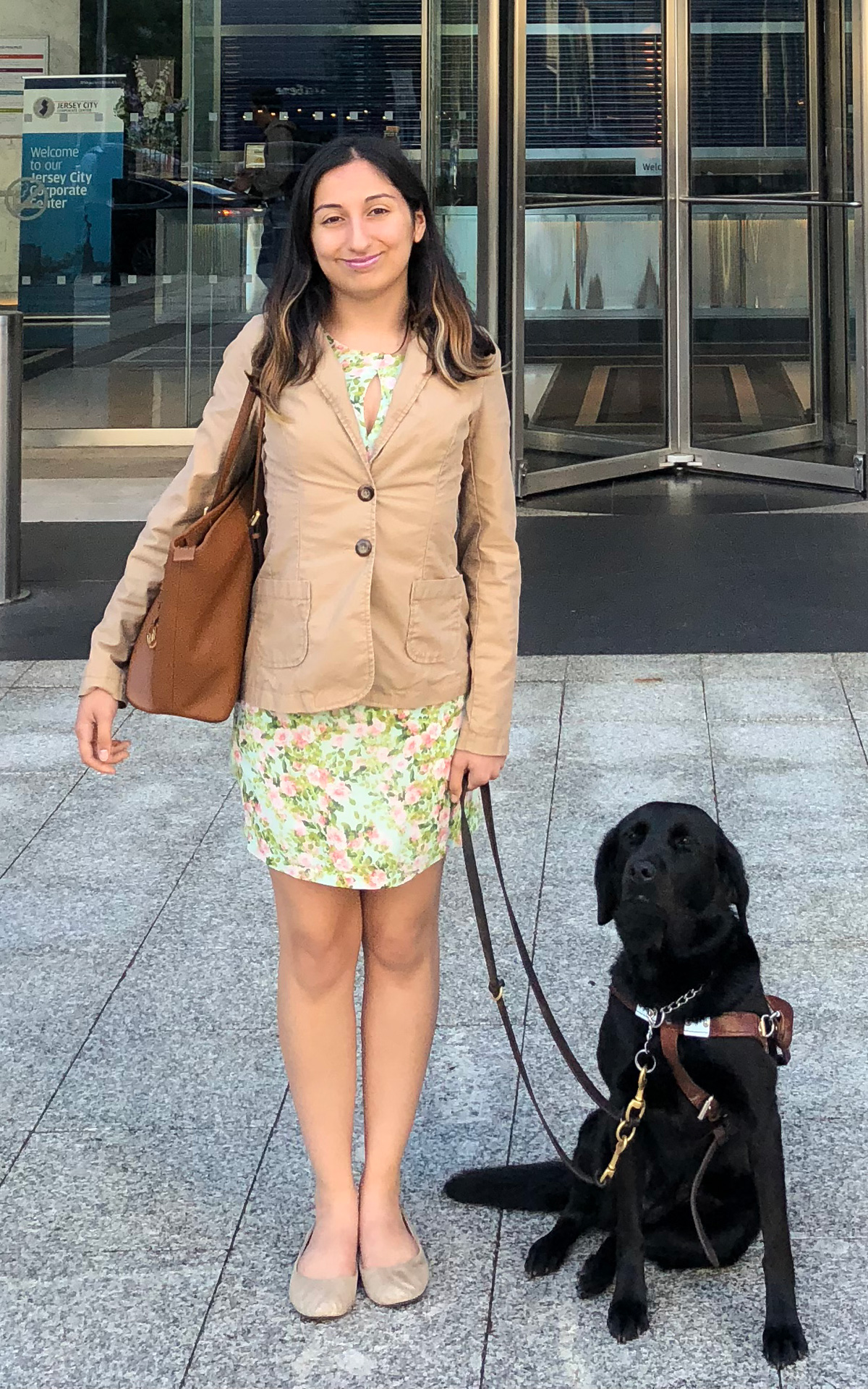 With Evie outside her internship at JPMorgan Chase