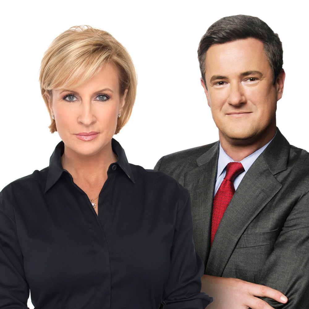 The smiling faces of Mike Brzezinski and Joe Scarborough