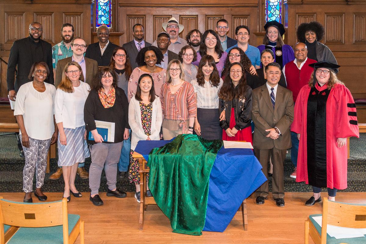 Group photo of the award winners inside Craig Chapel