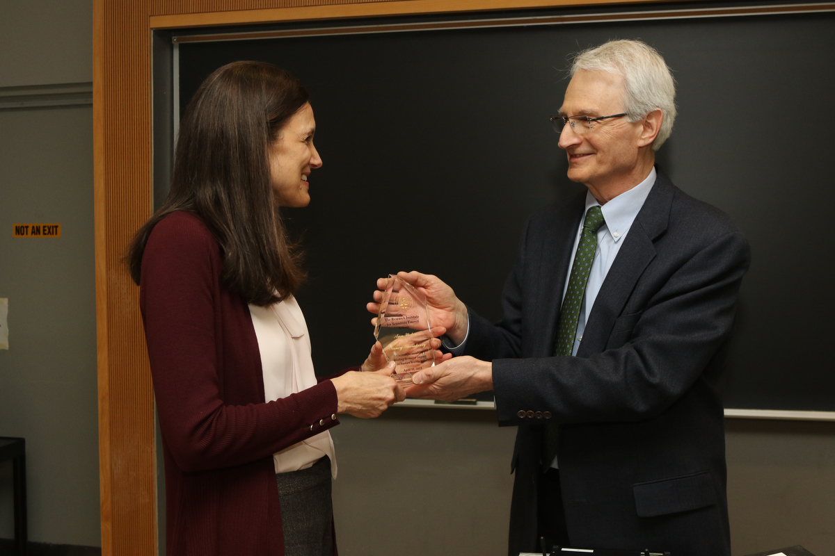 RISE director presents award to scientist Ann Weber