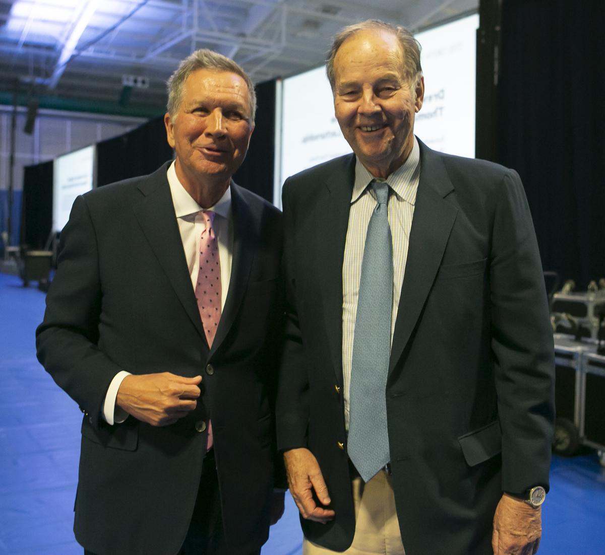 John Kasich along side former N.J. Governor and Drew President Tom Kean