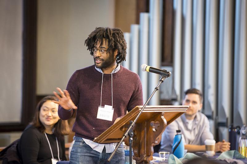 Desmond Coleman speaking