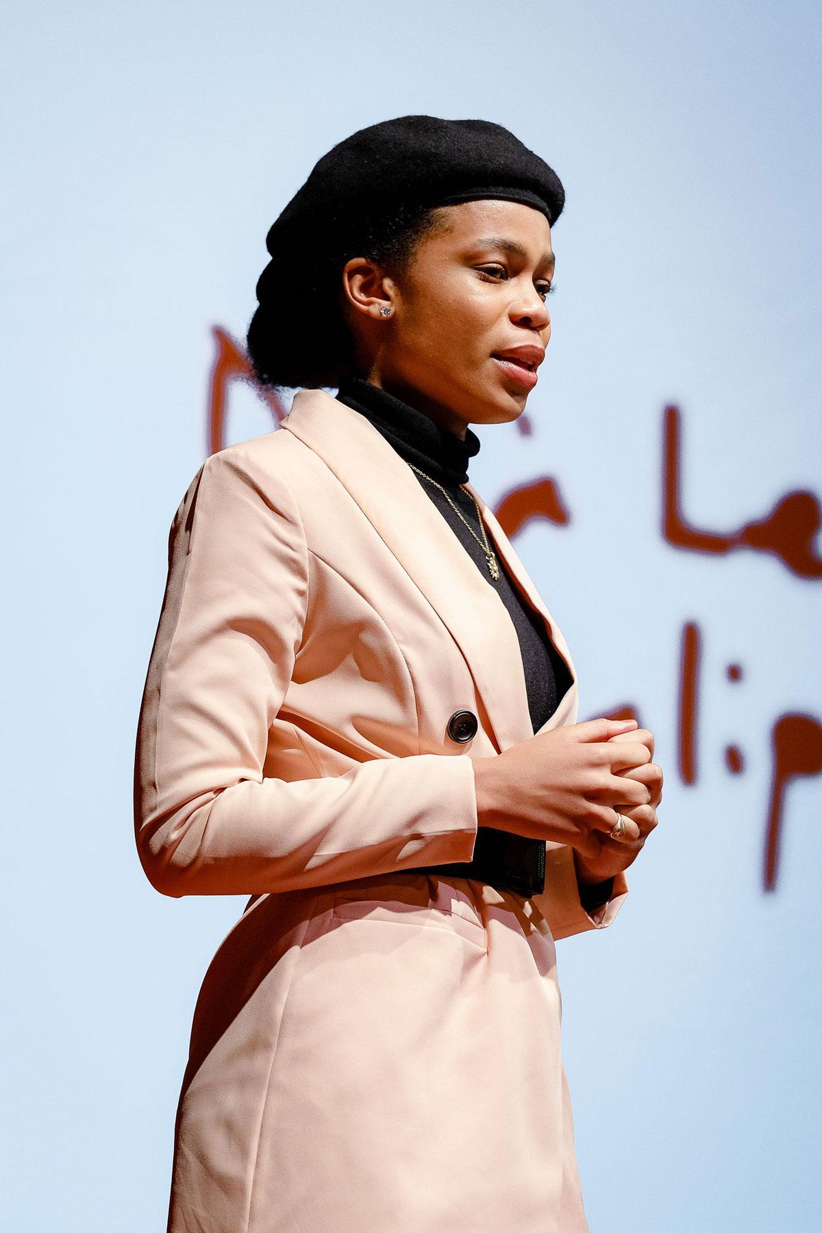 Deja Lewis-Nwalipenja speaking