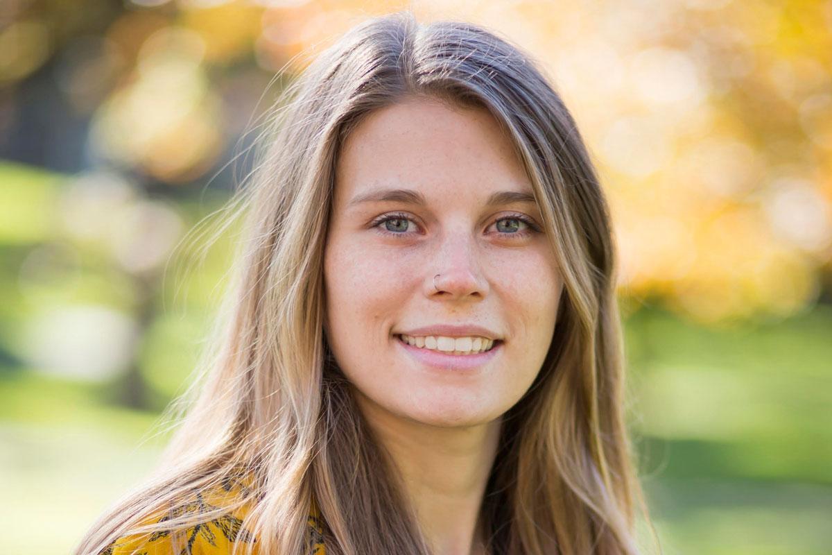 Smiling face of Sarah O'Brien