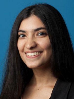 Smiling face of Zarina Akbary