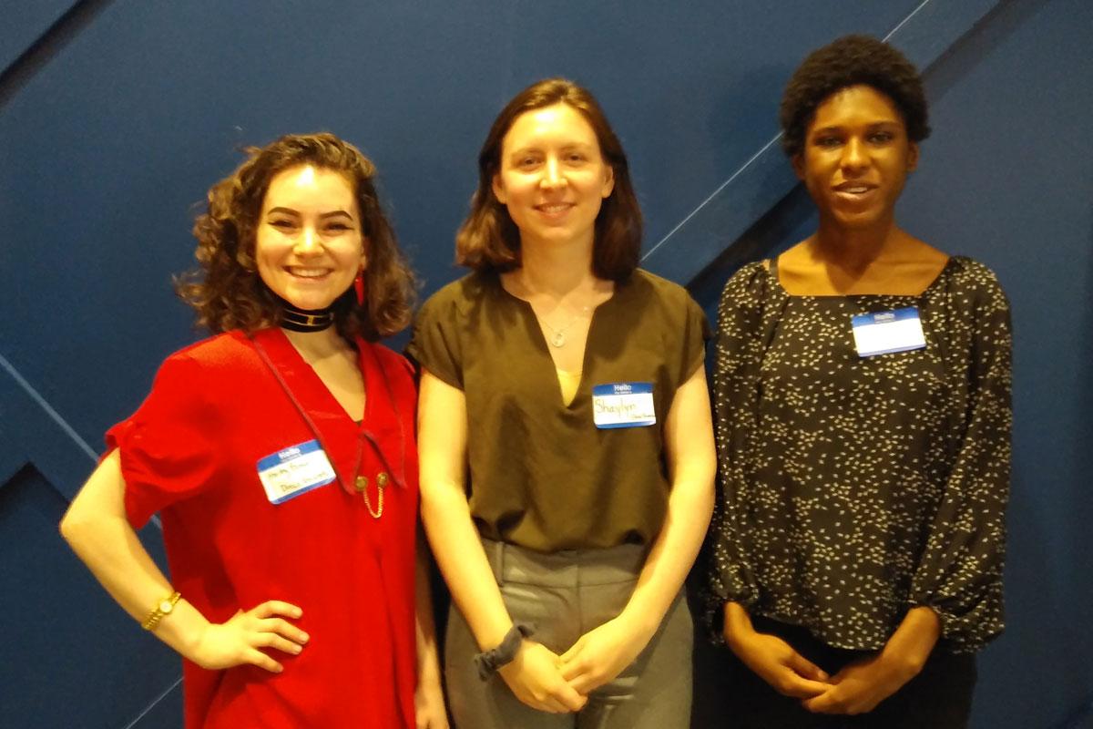 Hailey Benson, Shaylyn Mackinnon and Nia Dove standing in a row