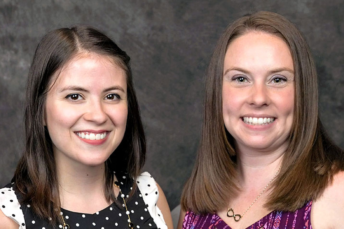 Smiling faces of Michelle Taliento and Heather Pollak