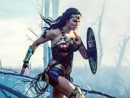 An image of Wonder Woman from the recent feature film, played by Gal Gadot.